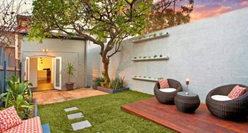 Urban Small Courtyard Decking Ideas Backyard Design