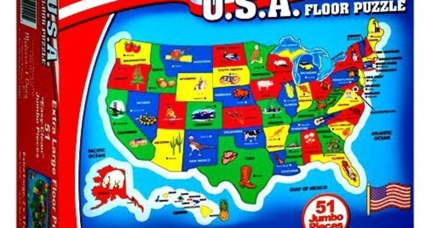 Usa Map Floor Puzzle Educational Toys Planet