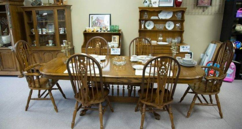 Used Furniture Dining Table Hutch Superb Find