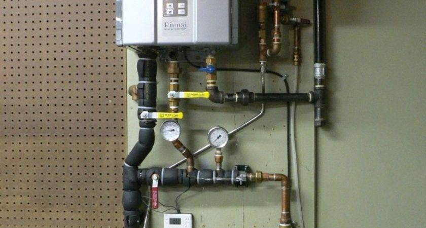 Using Tankless Water Heater Space Heat Throughout