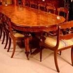 Victorian Style Burr Walnut Marquetry Dining Table