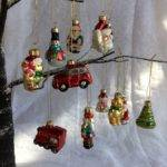 Vintage Style Glass Christmas Tree Decorations Retro
