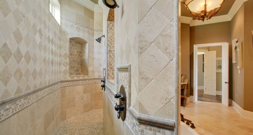 Walk Showers Without Doors Bathroom Traditional