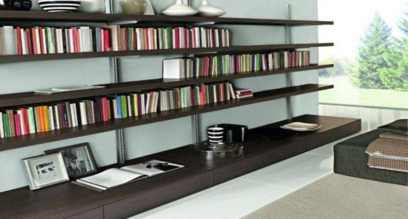 Wall Bookcase Plans Mounted Bookshelves