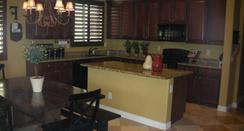 Wall Colors Kitchen Dark Cabinets Home Combo