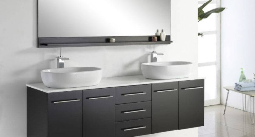 Wall Mounted Bathroom Vanity Double Sink Cabinet