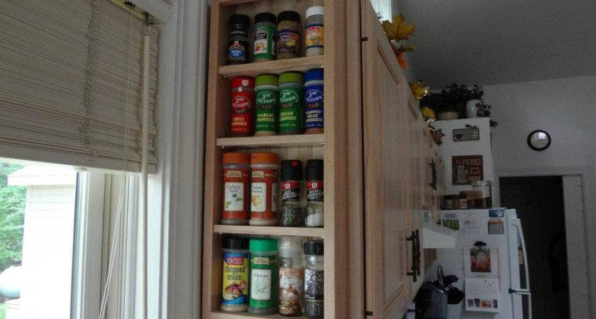 Wall Mounted Solid Wood Spice Rack