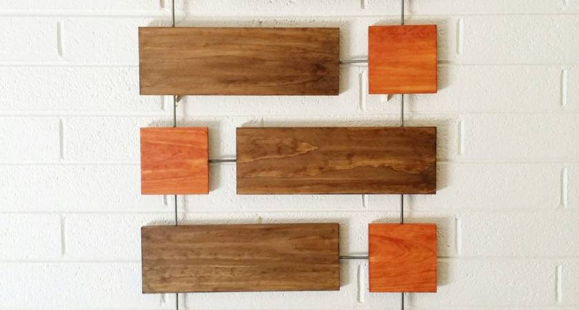 Wall Sculpture Wood Art Mid Century Modern Twombly