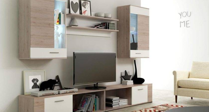 Wall Unit Stand Set Living Room