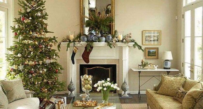 Warm Christmas Living Room Cor Ideas Holiday