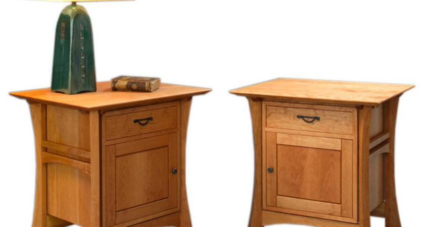 Waterfall Parmets Asian Nightstands Bedside Tables
