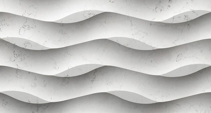 Wave Pattern Wall Panel Come Cracked Accent