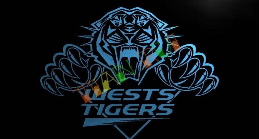 Wests Tigers Led Neon Light Sign Home Decor Crafts