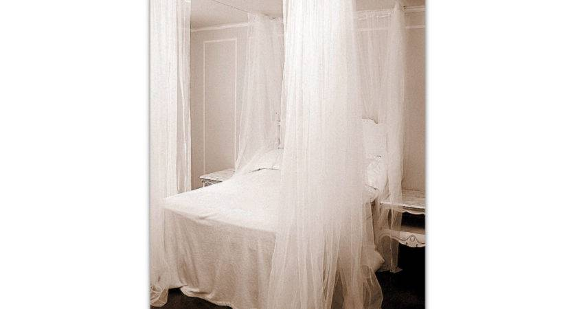 White Bed Canopy Custom Hanging Bedroom Curtains Ceiling