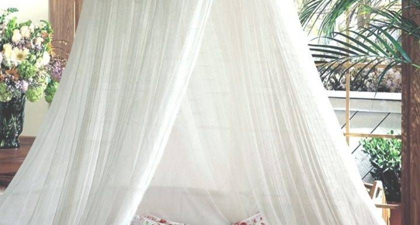 White Bed Canopy Silver Sequinned Valance