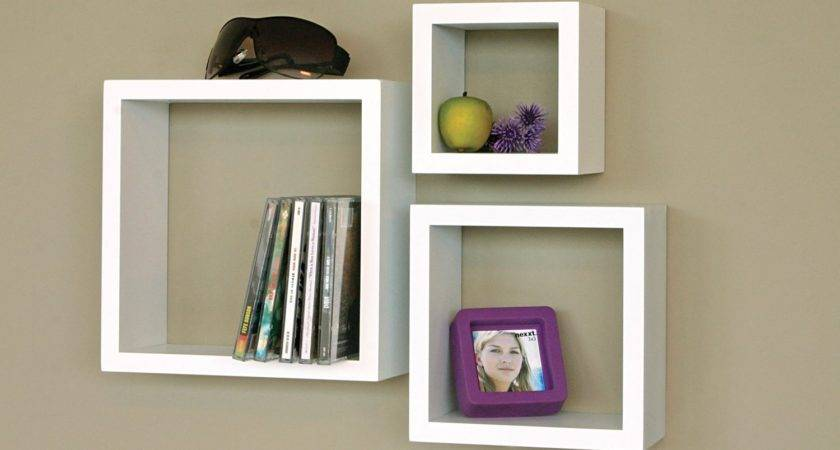 White Floating Wall Shelves Set Your Rooms