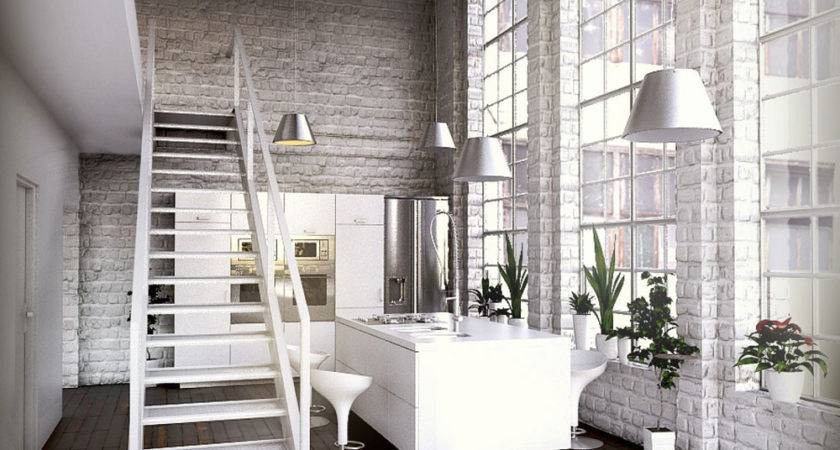 White Home Interior Industrial Inspiration Bedroom