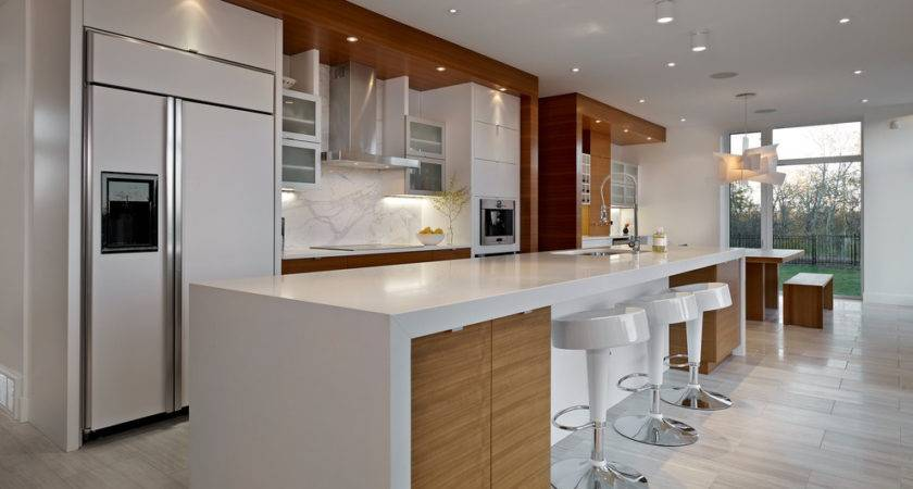 White Lacquer Cabinets Kitchen Contemporary Breakfast