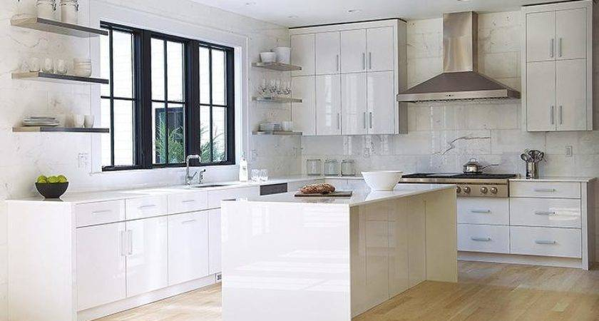 White Lacquered Kitchen Cabinets Modern