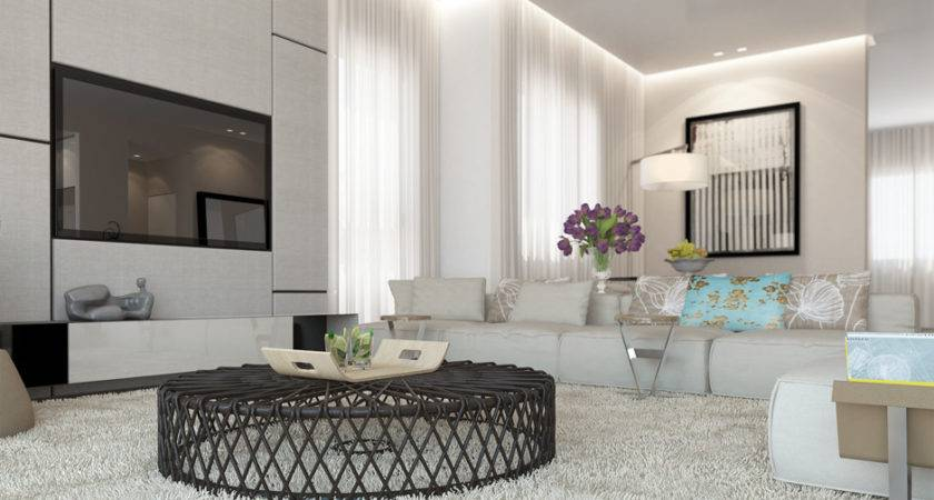 White Living Room Decor Scheme Interior Design Ideas