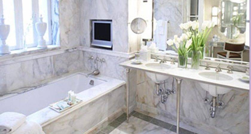 White Marble Bathroom Transitional