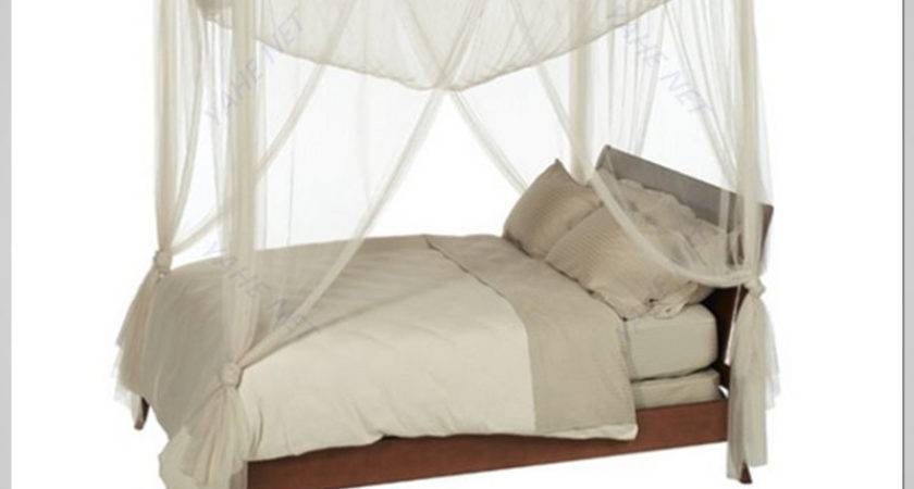 White Post Bed Great Four Poster Canopy Solid