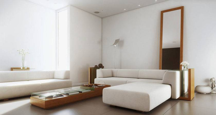 White Simple Living Room Wood Furniture Inspirations