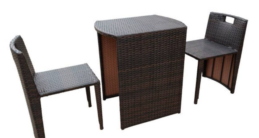 Wicker Rattan Set Dining Table Chairs Furniture Setting