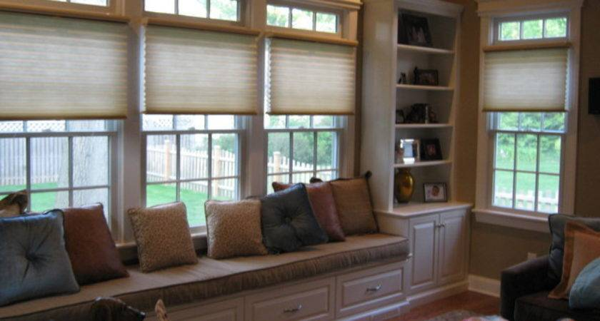 Window Seat Traditional Living Room Other Metro