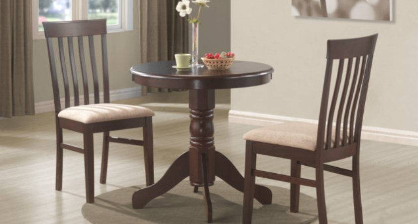 Wood Bistro Kitchen Dining Set Round Table