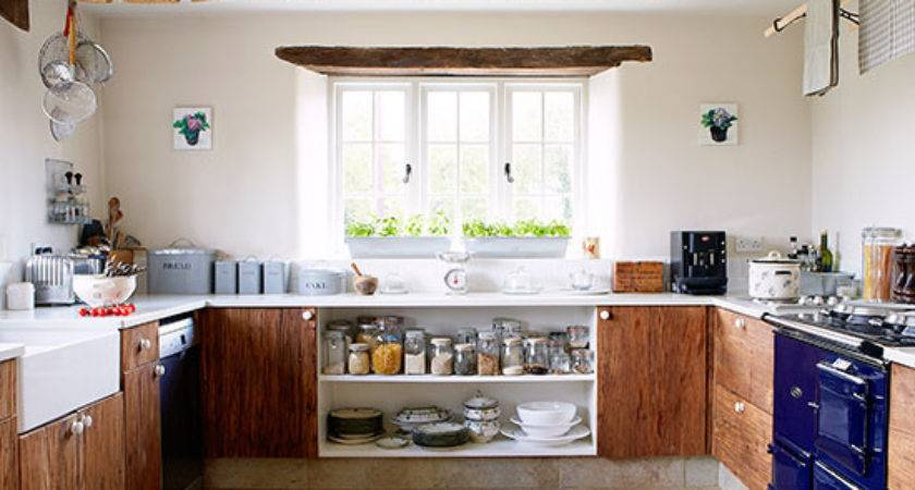 Wooden Country Kitchen Decorating Ideal Home