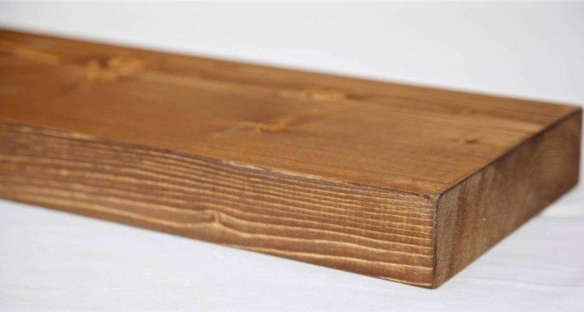 Wooden Floating Shelf Solid Rustic Pine Wood Next Day
