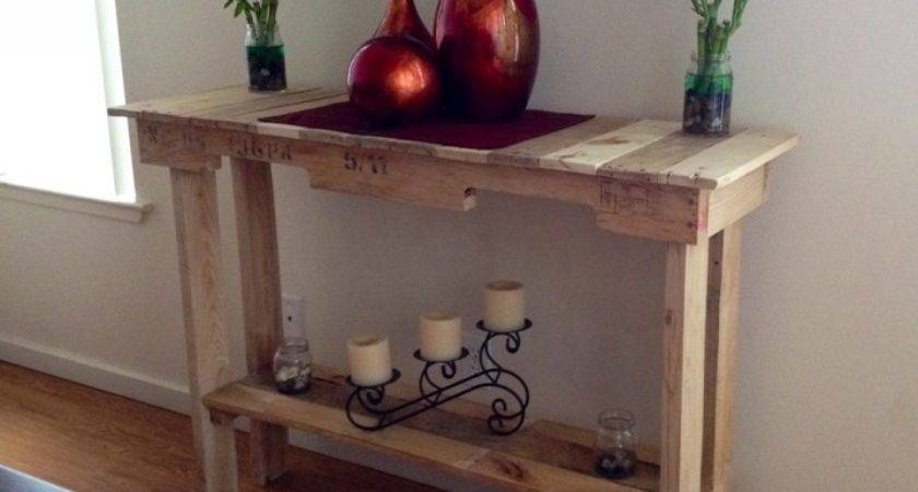 Wooden Pallet Side Table Ideas Recycled
