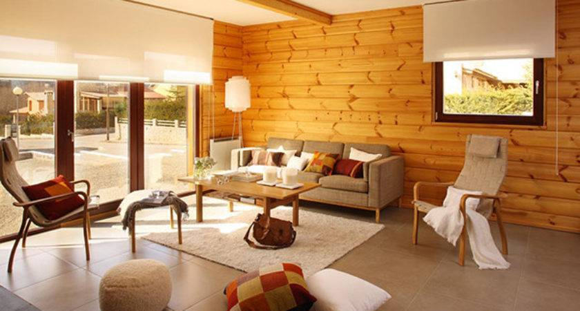 Wooden Panel Walls Living Room Designs Decoration
