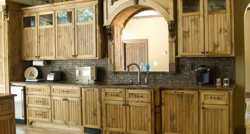 Wooden Rustic Kitchen Cabinets Interior Design