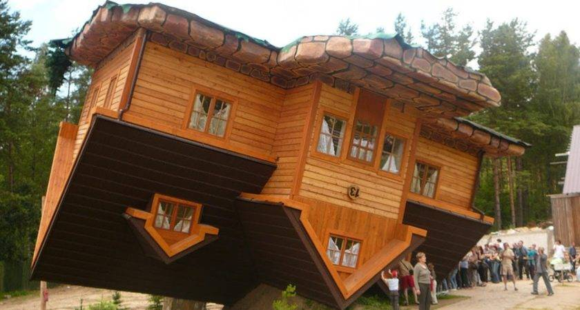 World First Upside Down House Szymbark Poland Youtube