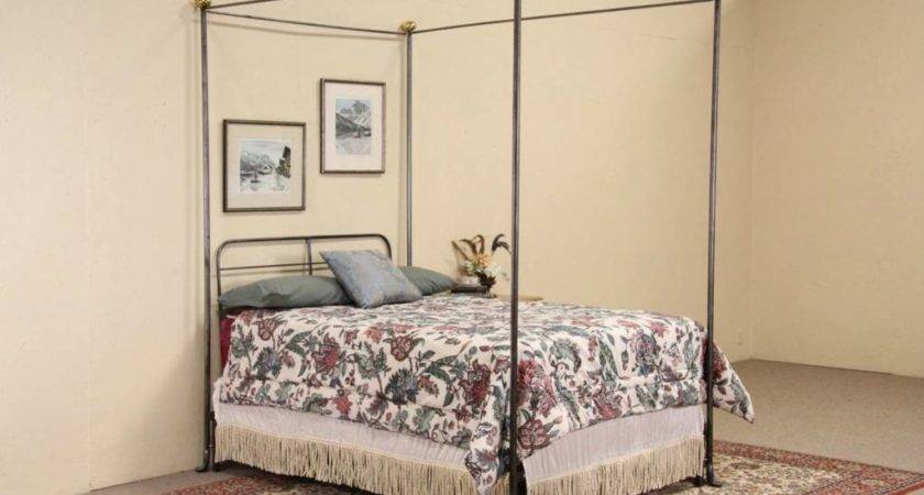 Wrought Iron Brass Vintage Canopy Bed Ebay