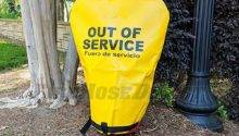 Yellow Hydrant Cover Out Service